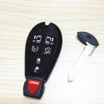 Chrysler Jeep Fobik Car key 433Mhz ID46 Electronic Chip 6+1 Button With Uncut Blade