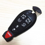 Chrysler Jeep Fobik Car key For 433Mhz and 46 Electronic Chip 7 Button With Uncut Blade