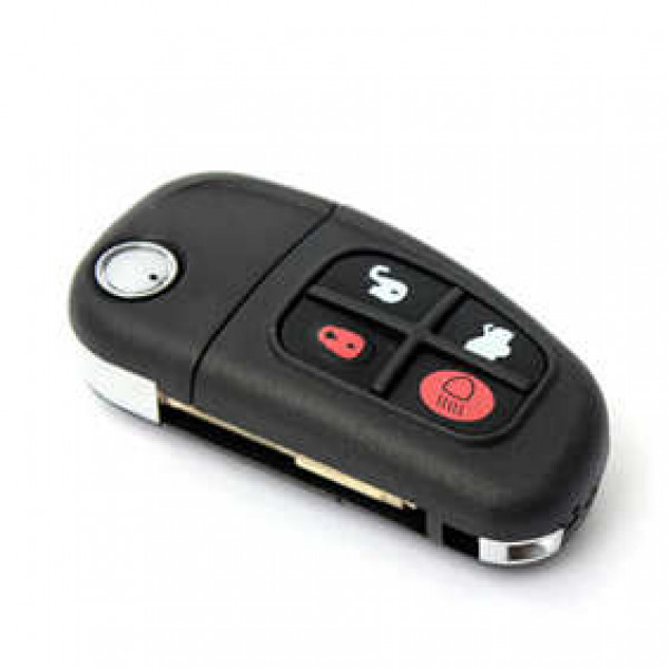 Jaguar X type S type XJ 2015 Brand New 4 Button Black Car 433MHz Remote Key Flip FOB Keyless with uncut blade