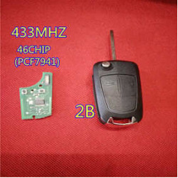 Opel 2buttons 433Mhz  remote key with pcf7941 46CHIP