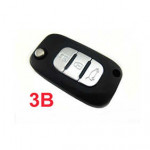 Renault No Logo 3 Buttons 434MHZ Remote Key with ID46 Chip