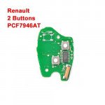 Renault Remote 2 Buttons Keys PCB Board with PCF7946AT